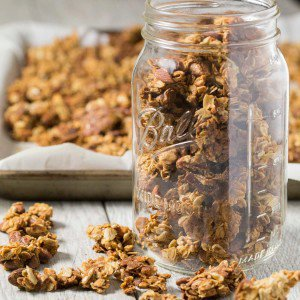 Nutty Coconut Oil Cluster Granola