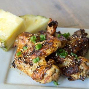 Mustard Grilled Pineapple Chicken Wings