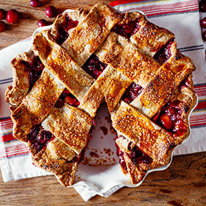 Cranberry-Apple Pie with a Rye Crust