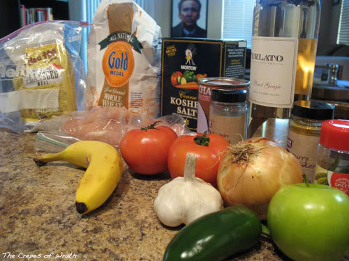 Crock Pot Chicken Curry with Apple, Banana, and Tomato
