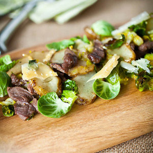 Brussels Sprouts and Sunchoke Salad
