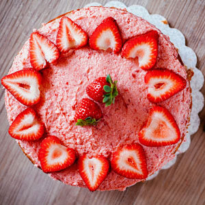 Strawberry Cake with Simple Strawberry Frosting