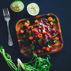 Spiced Cabbage & Carrot Salad