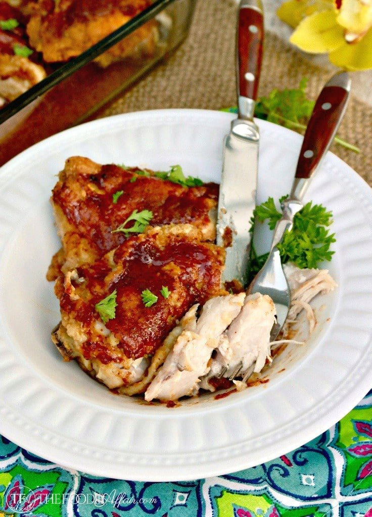 Delicious Honey Mustard Chicken Thighs - Pan Fried and Baked