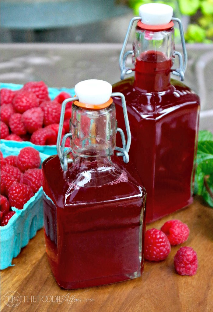 Fresh Raspberry Syrup for Drinks