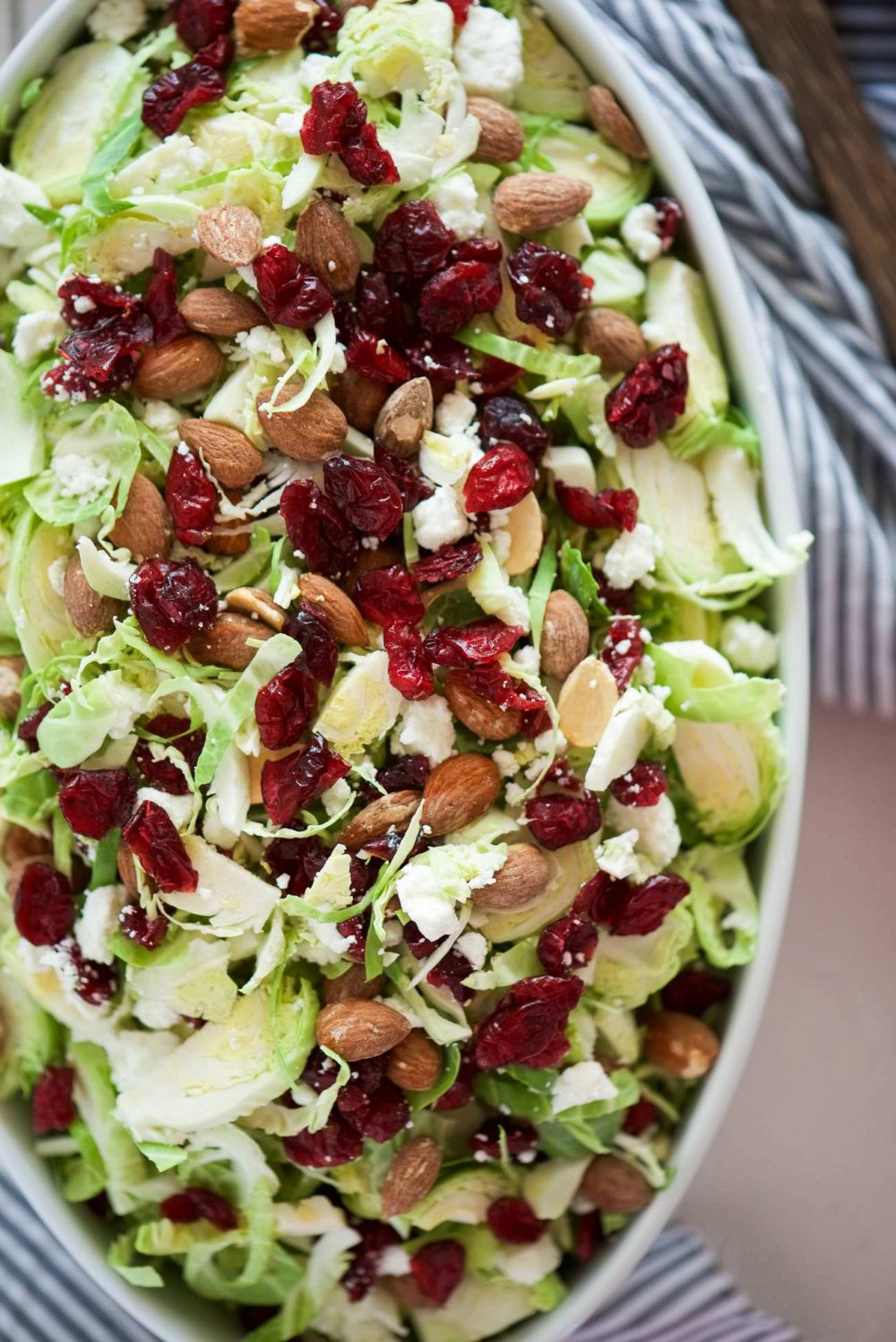 Spring Shaved Brussels Sprout Salad with Lemon Poppyseed Dressing