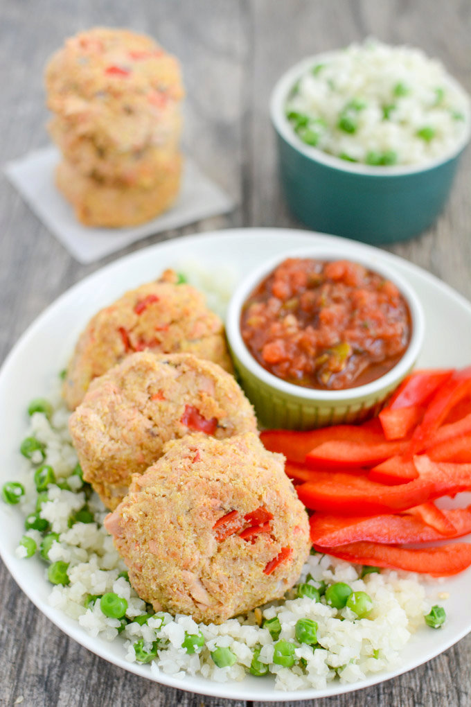 Spicy Salmon Cornmeal Cakes