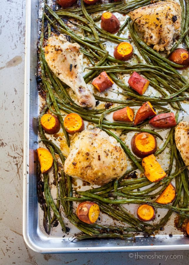 The Weeknight Dinner Cookbook: Sheet Pan Chicken with Green Beans and Potatoes