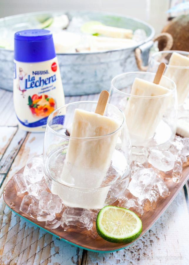 Summer Coquito | Rum and Coconut Popsicle Cocktail