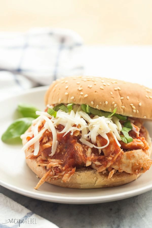 Slow Cooker Italian Chicken Sandwiches and GIVEAWAY!