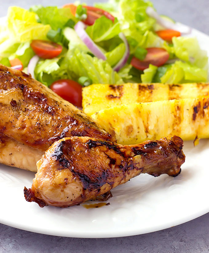 Hawaiian Grilled Chicken and Pineapple recipe