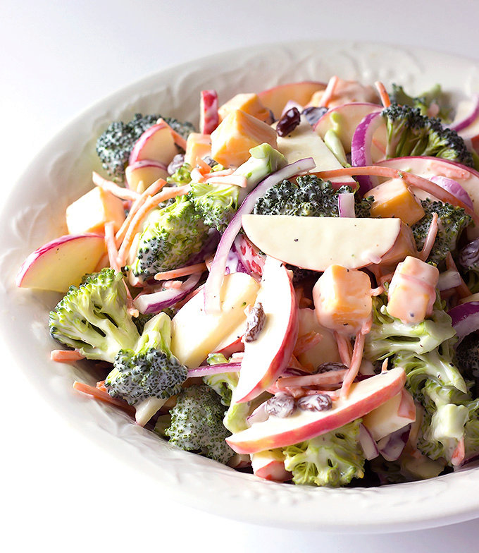 Cheddar Apple Broccoli Salad Recipe