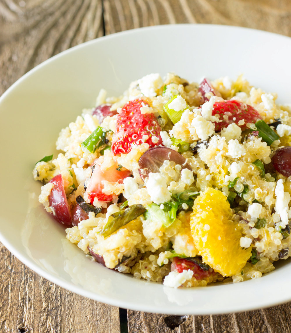 Fruity Quinoa Salad with Sweet Apricot Vinaigrette Recipe