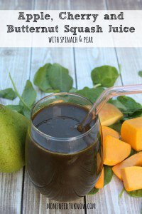 Apple, Squash and Cherry Juice   With Added Spinach and Sweetened With Pears!
