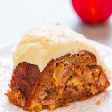 Apple Cinnamon Spice Cake with Cream Cheese Frosting