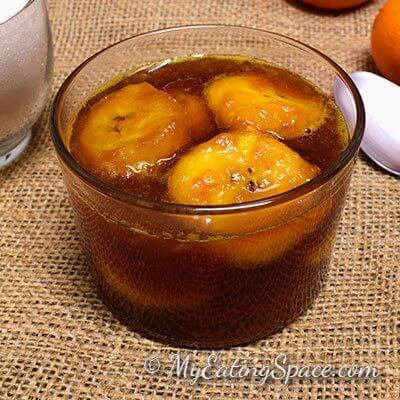 Candied Plantain in Orange Syrup
