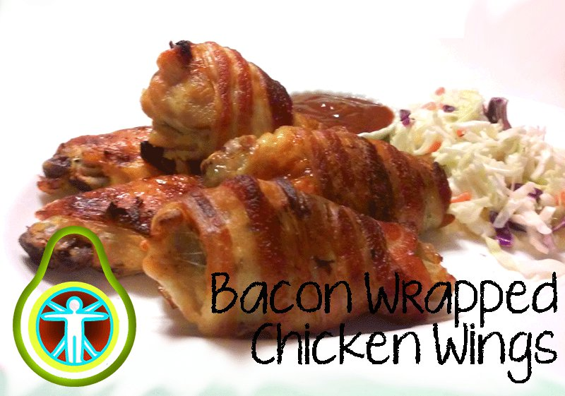Keto Bacon Wrapped Wings