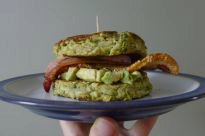 Avocado & Bacon in a Courgette 'Muffin'