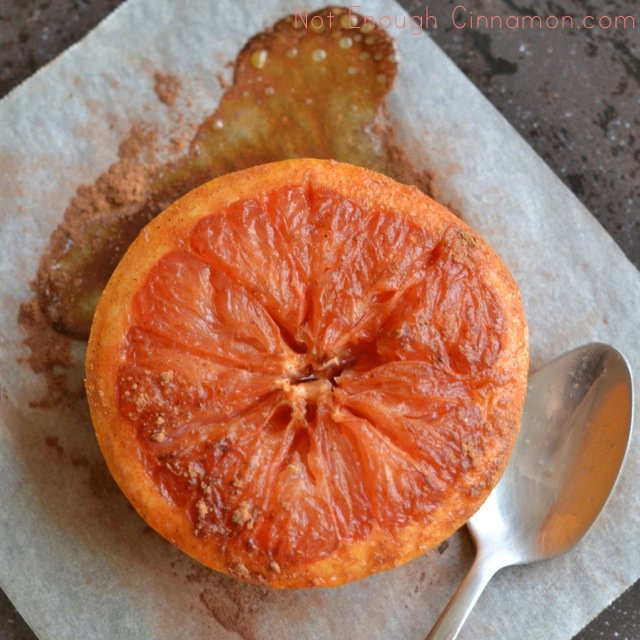 Maple Syrup-Cinnamon Baked Grapefruit
