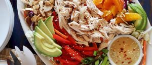 Asian Chicken Salad with Creamy Sesame Dressing Recipe