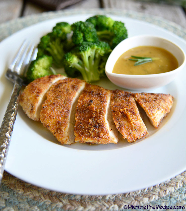 Almond Crusted Chicken with Maple Dijon Sauce