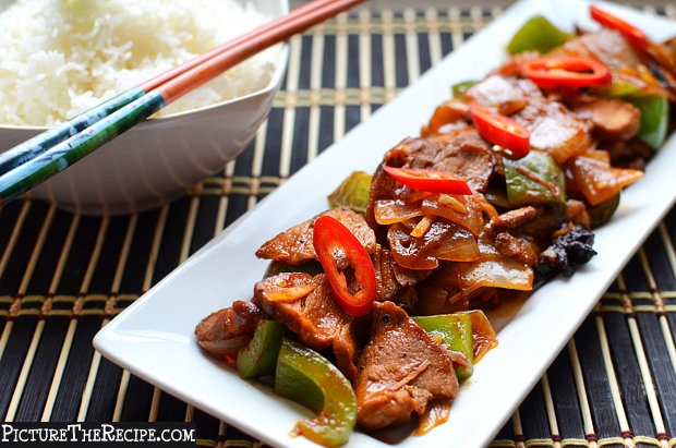 Chili Pork with Peppers Recipe
