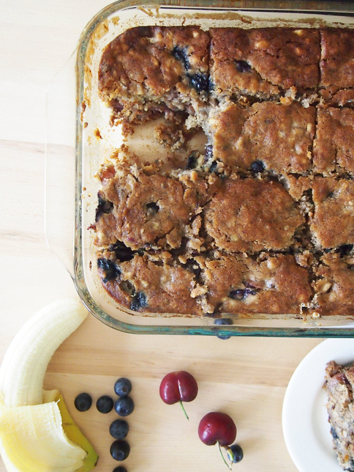 Red, White, and Blueberry Banana Bread