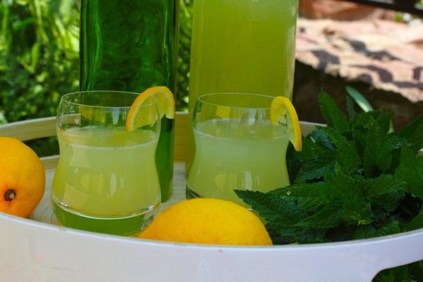 Domestic natural lemonade with mint