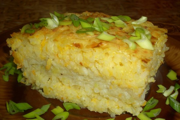 Casserole Air with rice and meat