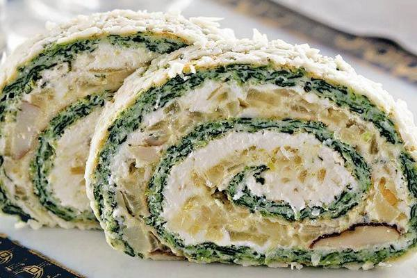 Chicken roulade with soft cheese