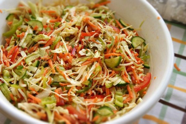 Vegetable Salad genius for the winter