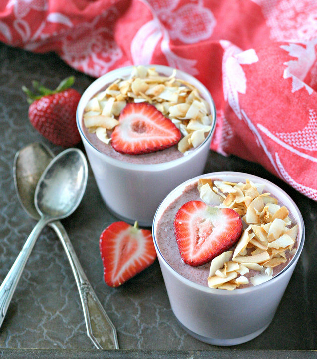 Coconut Strawberry Chia Seed Pudding