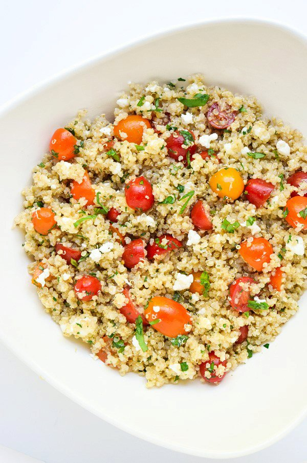 Tomato Herb Quinoa Salad with Goat Cheese