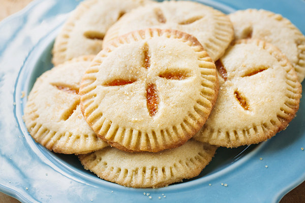 Apricot Sugar Cookie Pies Filled with Apricot Preserves