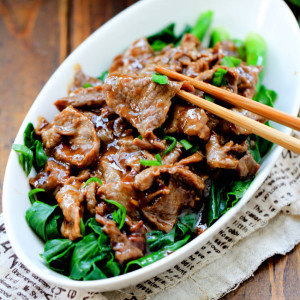 Oyster Beef with Chinese Broccoli