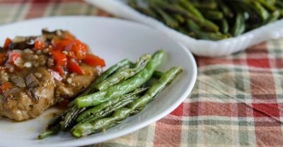 Roasted Garlic Herb Green Beans