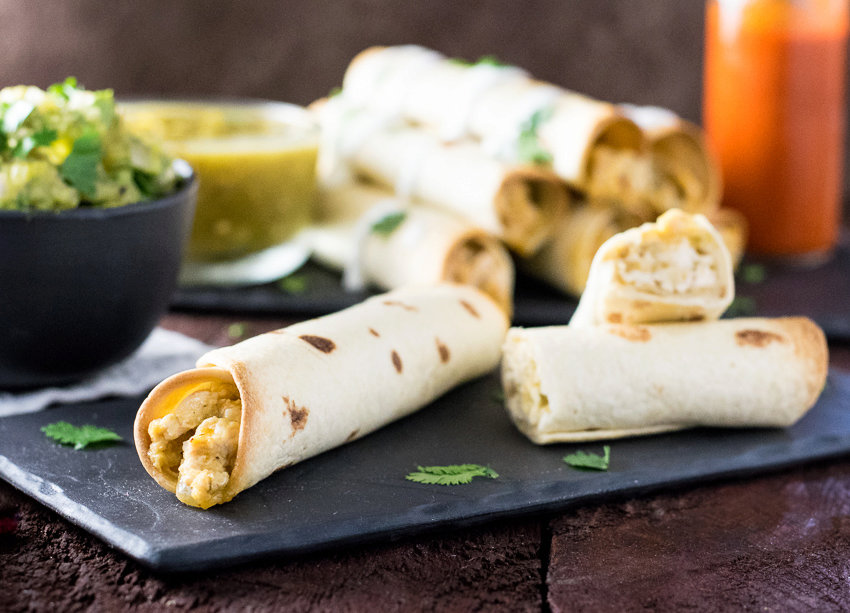 Healthy Baked Chicken Taquitos