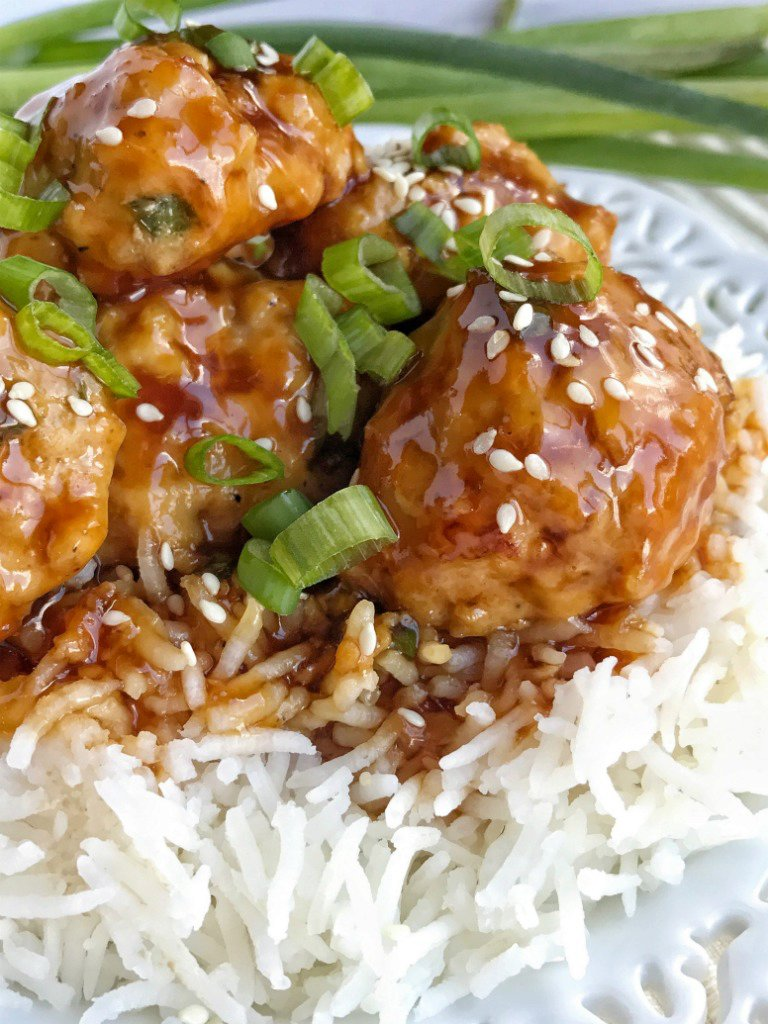 Pineapple Teriyaki Chicken Meatballs