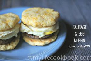 Sausage & Egg Muffin (low carb, grain free)