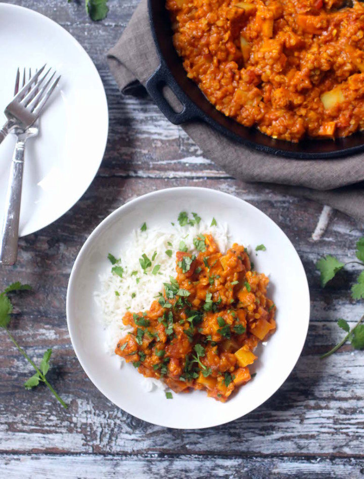 Vegan Red Lentil and Potato Curry