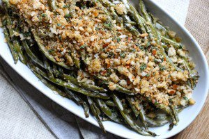 Roasted Green Beans with Lemon Vinaigrette and Herbed Breadcrumbs