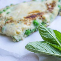 Pea, Mint and Parmesan Omelette