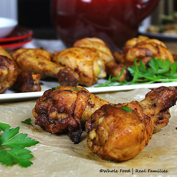 Simple Chicken Drumsticks with Curry and Paprika