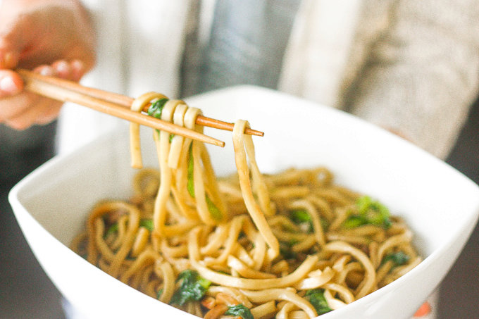 Shanghai-Style Fried Noodles