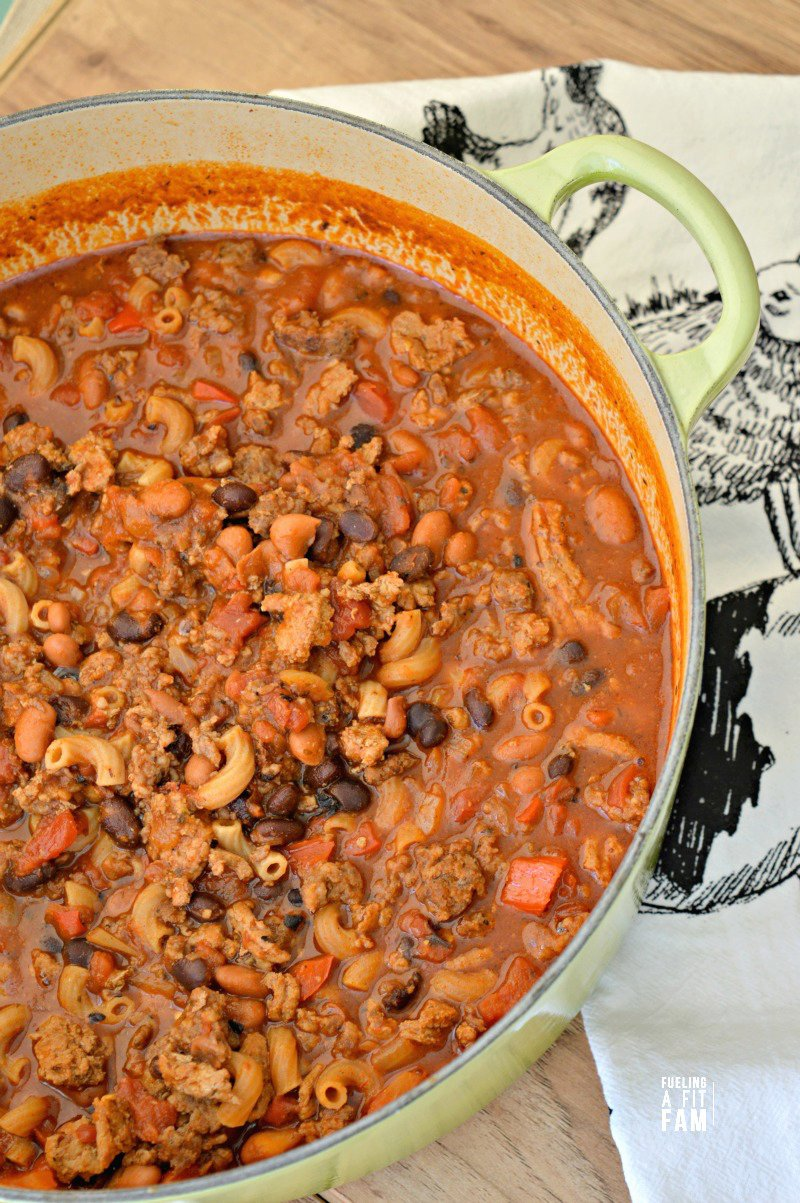 Dutch Oven Chili Mac