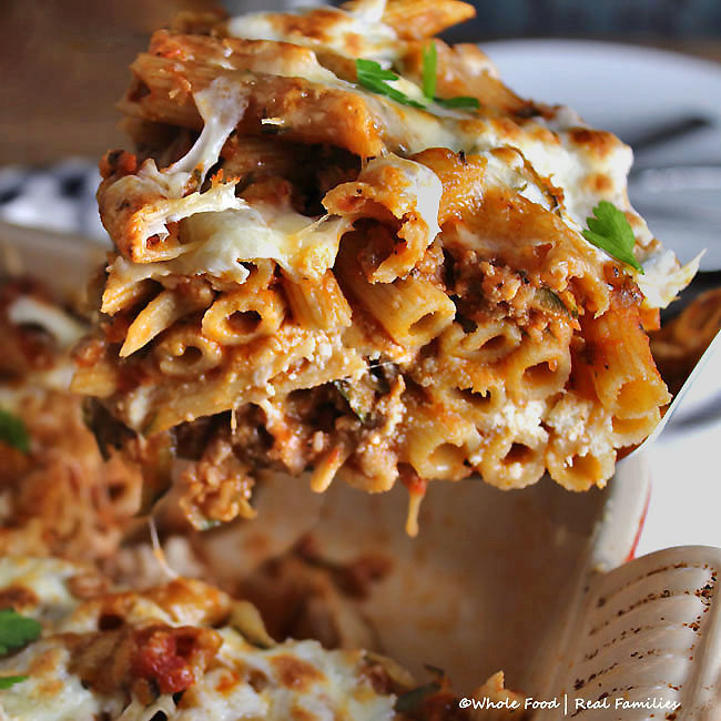 Baked Pasta with Sausage and Zucchini