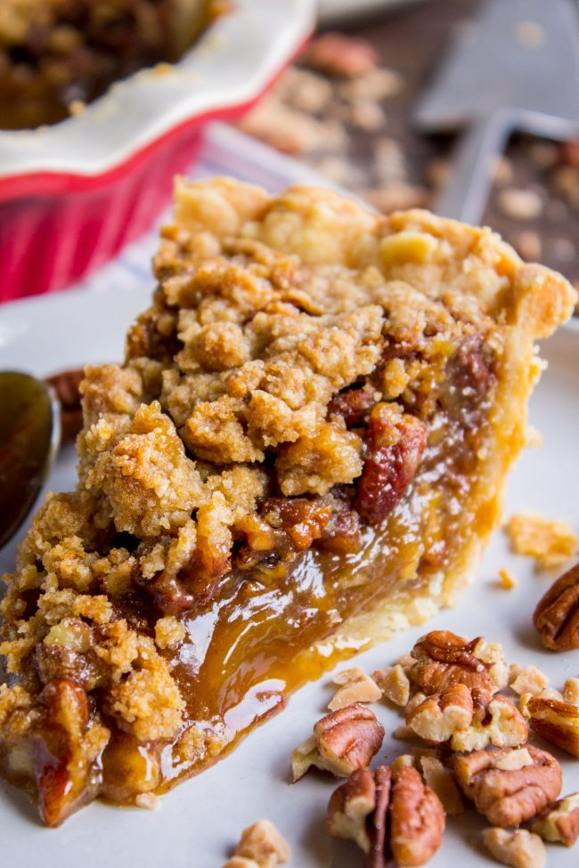 Pecan Pie Recipe with Buttery Streusel Topping