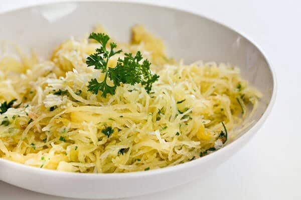 Baked Spaghetti Squash Recipe with Garlic and Butter