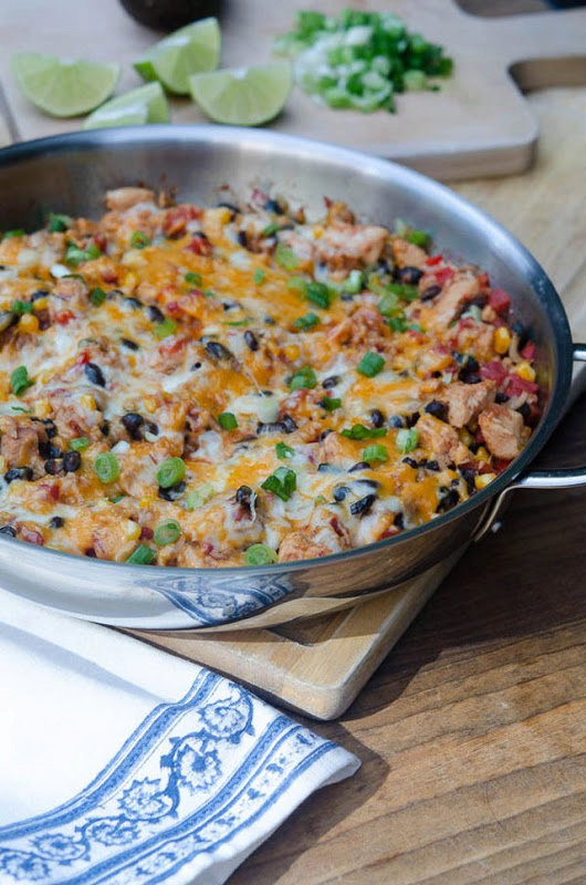Recipe : Tex-Mex Chicken And Rice Skillet