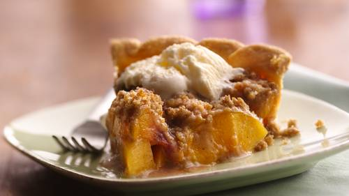 Streusel-Topped Peach Pie